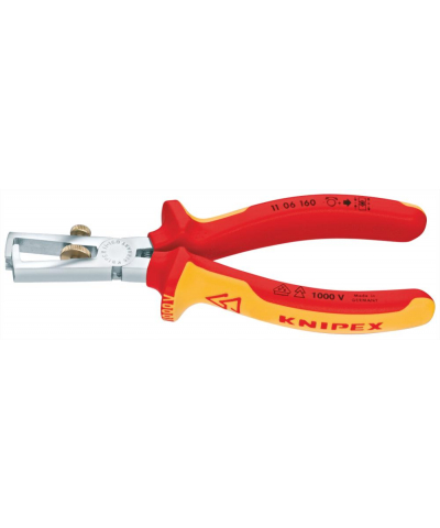 Abisolierzange VDE 160mm m.M.K.Griff Knipex