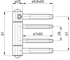 Haustürband 2D TOP 320 passiv. mit SM-Lager TO320